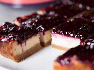 Blackberry Cheesecake Squares, as seen on Food  Season 6.